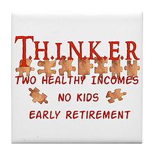 Child-Free Thinker Tile Coaster