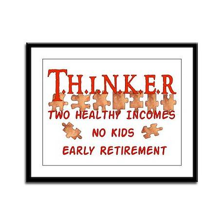 Child-Free Thinker Framed Panel Print