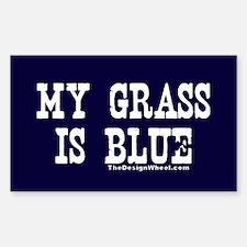 My Grass Is Blue Rectangle Sticker 10 pk)