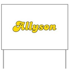 Retro Allyson (Gold) Yard Sign