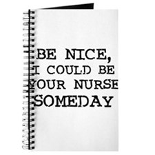 Be nice, I could be your nur Journal