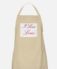 I Love Loris BBQ Apron