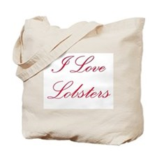 I Love Lobsters Tote Bag