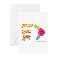Hairdresser Blow Job Greeting Cards (Pk of 10)