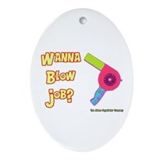 Hairdresser Blow Job Keepsake (Oval)