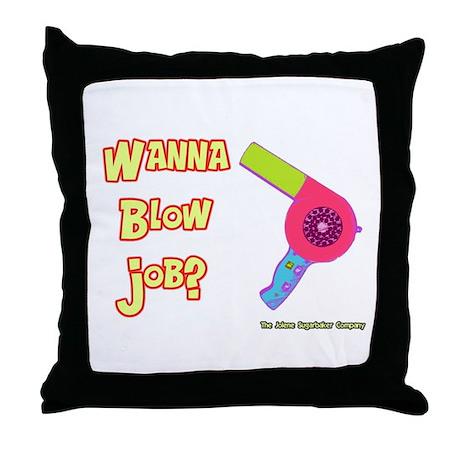 Hairdresser Blow Job Throw Pillow