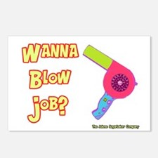Hairdresser Blow Job Postcards (Package of 8)