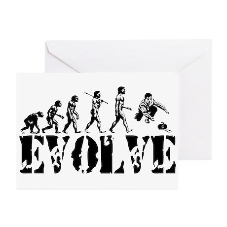 Curling Evolution Greeting Cards (Pk of 10)