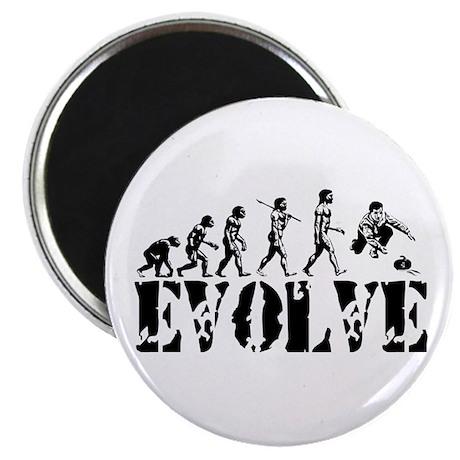"""Curling Evolution 2.25"""" Magnet (100 pack)"""
