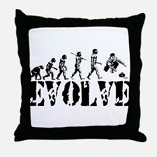 Curling Evolution Throw Pillow
