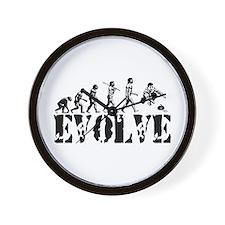 Curling Evolution Wall Clock
