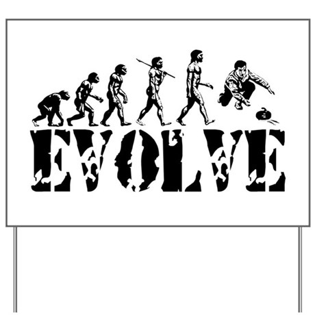 Curling Evolution Yard Sign
