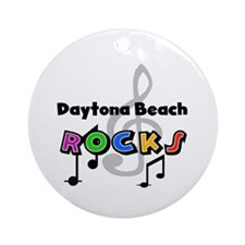 Daytona Beach Rocks Ornament (Round)
