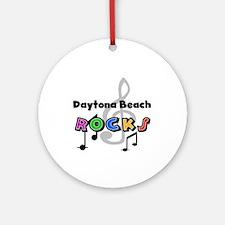 Daytona Beach Rocks Ornament (Round)