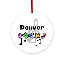 Denver Rocks Ornament (Round)