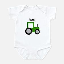Joshua - Green Tractor Infant Bodysuit