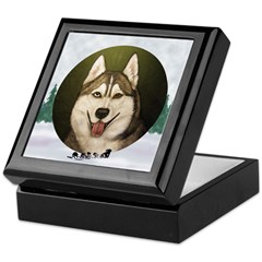 Siberian Husky & dog team Keepsake Box