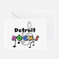 Detroit Rocks Greeting Card
