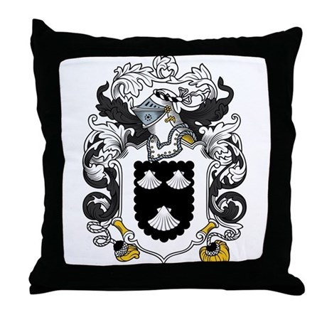 Strickland Family Crest Throw Pillow
