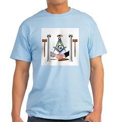 Masonic Brothers with circle Ash Grey T-Shirt