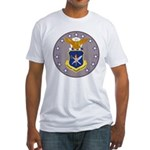 Air Force Officer School (Front) Fitted T-Shirt