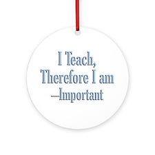 Teachers inspire Ornament (Round)
