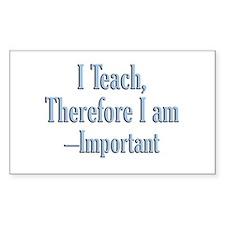 Teachers inspire Rectangle Decal