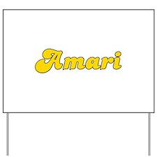 Retro Amari (Gold) Yard Sign