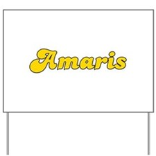 Retro Amaris (Gold) Yard Sign