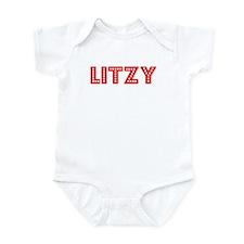 Retro Litzy (Red) Infant Bodysuit