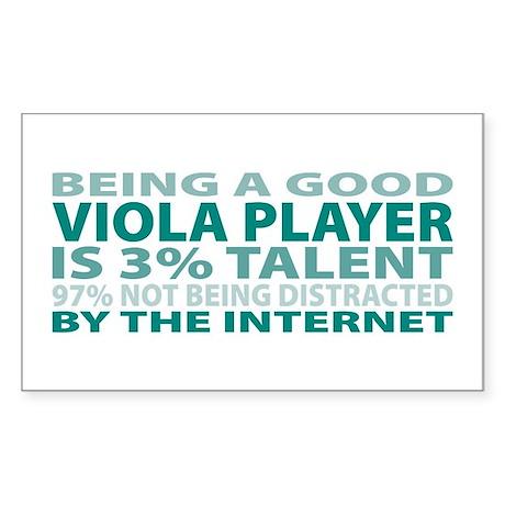 Good Viola Player Rectangle Sticker