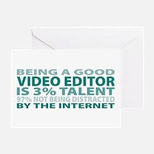 Good Video Editor Greeting Card