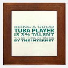 Good Tuba Player Framed Tile