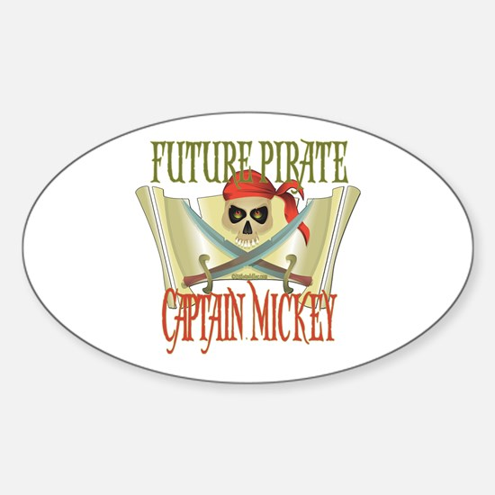 Captain Mickey Oval Decal