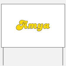 Retro Amya (Gold) Yard Sign
