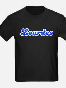 Retro Lourdes (Blue) T