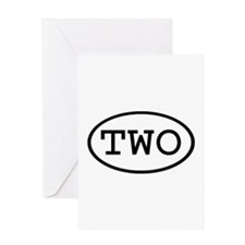 TWO Oval Greeting Card