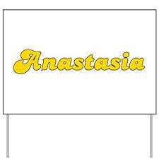 Retro Anastasia (Gold) Yard Sign