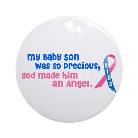 Angel 1 (Baby Son) Ornament (Round)