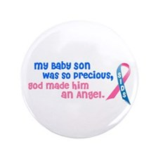 "Angel 1 (Baby Son) 3.5"" Button"
