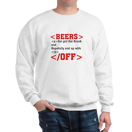 Beers and HTML Sweatshirt