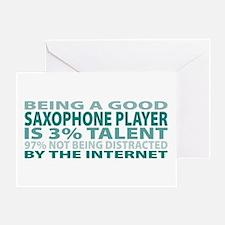 Good Saxophone Player Greeting Card