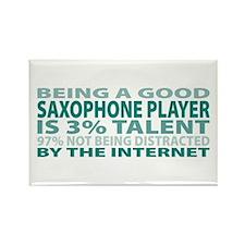 Good Saxophone Player Rectangle Magnet