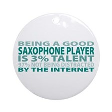 Good Saxophone Player Ornament (Round)