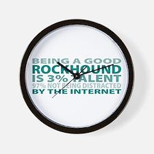 Good Rockhound Wall Clock