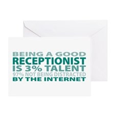 Good Receptionist Greeting Card