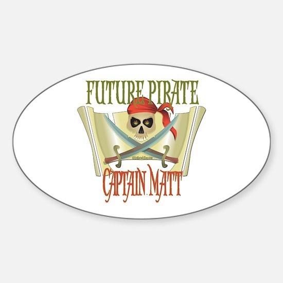 Captain Matt Oval Decal