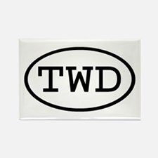 TWD Oval Rectangle Magnet