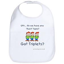 Got Triplets? - 3 Boys Duck T Bib