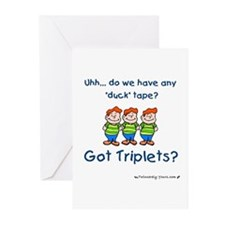 Got Triplets? - 3 Boys Duck T Greeting Cards (Pack